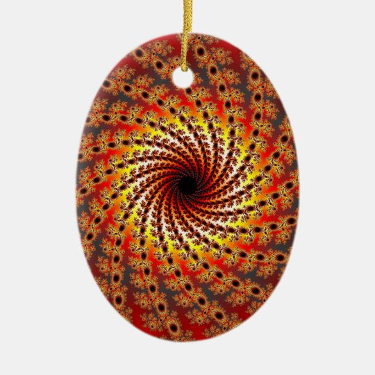 Terrapin Spin Fractal Art Ceramic Ornament
