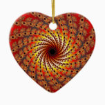 Terrapin Spin Fractal Art Ceramic Ornament