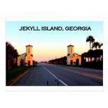 Terraplén de Georgia de la isla de Jekyll Postal