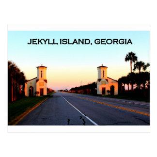 Terraplén de Georgia de la isla de Jekyll Tarjetas Postales