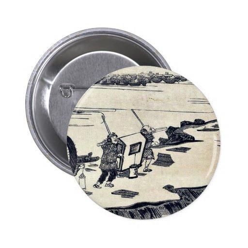 Terraplén de Nihon por Kitagawa, Tsukimaro Ukiyoe Pins
