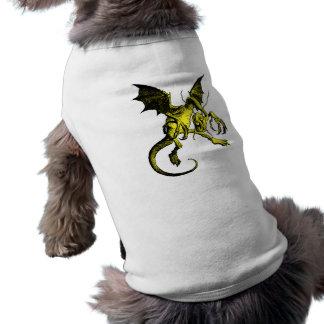 Terraplén del amarillo de Jabberwocky Camiseta De Perro