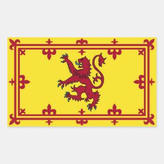 Terraplén escocés pegatina rectangular