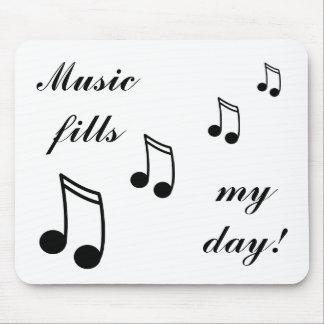 ¡Terraplenes de la música mi día! Tapete De Raton