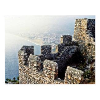 Terraplenes de Seljuk, Alanya - 1221 A.D. Postal