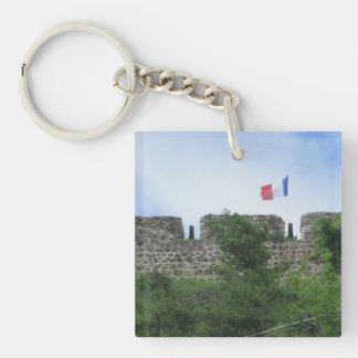 """Terraplenes """"St. Maarten """" de Louis del fuerte Llavero Cuadrado Acrílico A Una Cara"""