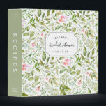 """Terrarium Botanical Bridal Shower Recipe Binder<br><div class=""""desc"""">Collect recipes for the bride to be and organize them in this pretty floral binder with tons of personalization options! Chic green and white binder features a pattern of tropical fern foliage, green leaves and pink flowers. Customize the front with the bride to be&#39;s name and shower date, and add...</div>"""
