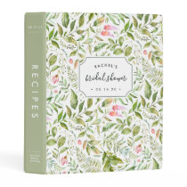 Terrarium Botanical | Bridal Shower Recipe Mini Binder