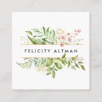Terrarium   Botanical Square Business Card