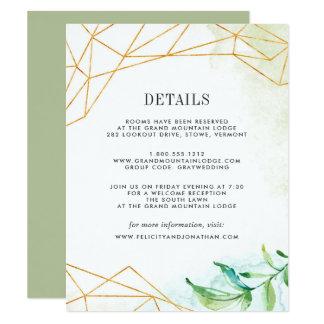 Terrarium Guest Information Card