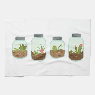 Terrarium Jars Hand Towels
