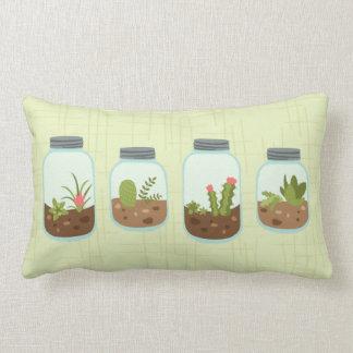Terrarium Jars Lumbar Pillow