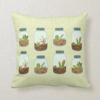 Terrarium Jars Throw Pillow