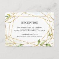 Terrarium Reception Card