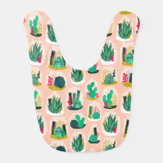 Terrarium Succulent Plant Cactus / Andrea Lauren Baby Bib