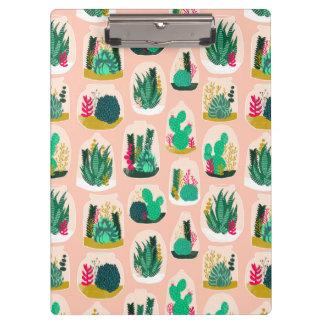 Terrarium Succulent Plant Cactus / Andrea Lauren Clipboard