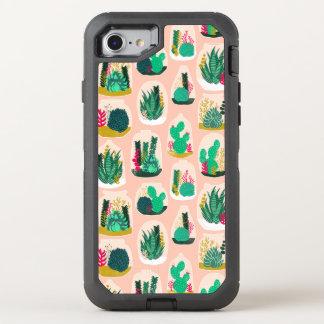 Terrarium Succulent Plant Cactus / Andrea Lauren OtterBox Defender iPhone 7 Case