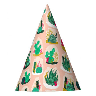 Terrarium Succulent Plant Cactus / Andrea Lauren Party Hat