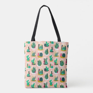 Terrarium Succulent Plant Cactus / Andrea Lauren Tote Bag