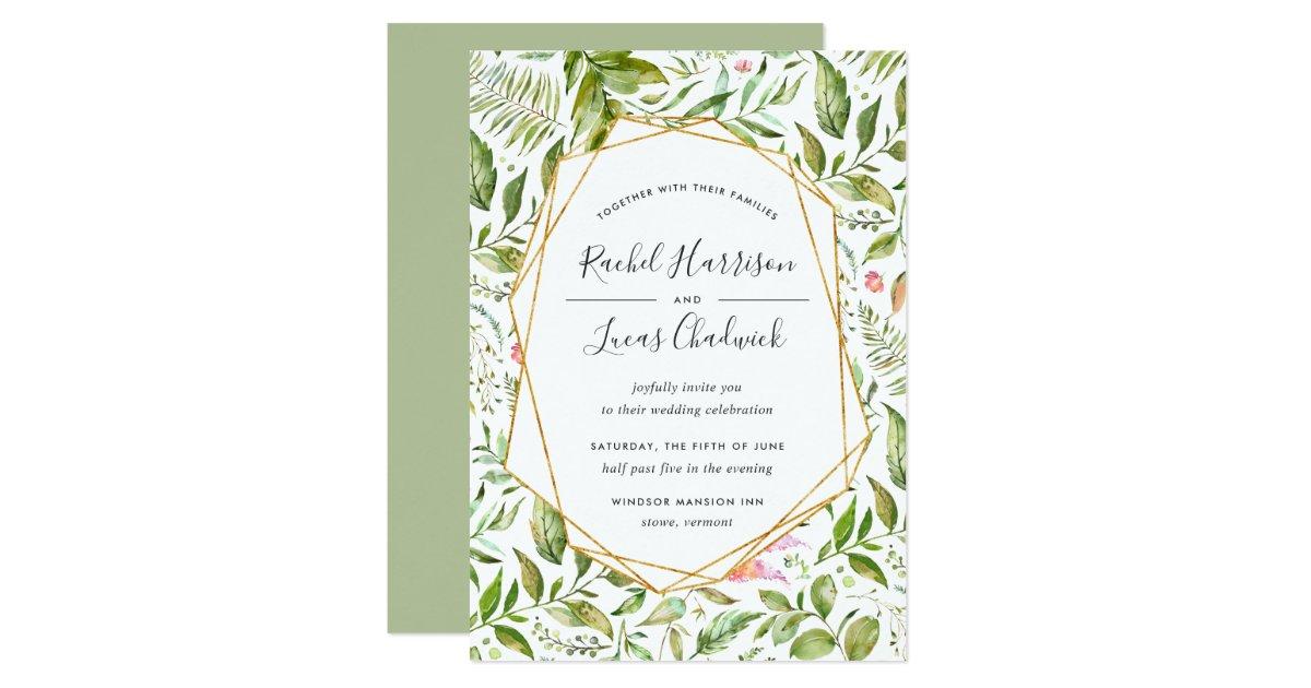 Terrarium Wedding Invitation   Zazzle.com