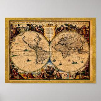 Terrarum 1625 del totius de Nova del mapa del vint Posters
