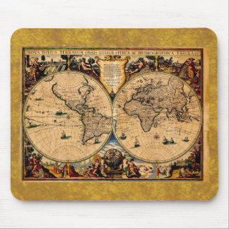 Terrarum 1625 del totius de Nova del mapa del vint Tapetes De Ratón