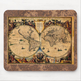 Terrarum 1625 del totius de Nova del mapa del vint Tapetes De Raton