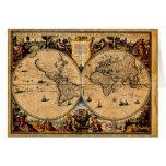 Terrarum 1625 del totius de Nova del mapa del vint Tarjeta De Felicitación