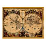 Terrarum 1625 del totius de Nova del mapa del vint Postales
