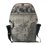 Terrarum del totius de Nova, mapa del mundo antigu Bolsas Messenger