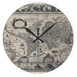Terrarum del totius de Nova, mapa del mundo antigu Relojes