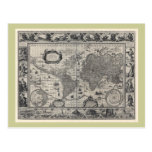 Terrarum del totius de Nova, mapa del mundo antigu Tarjeta Postal