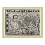 Terrarum del totius de Nova, mapa del mundo Postal