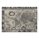 Terrarum del totius de Nova, mapa del mundo Tarjeta De Felicitación