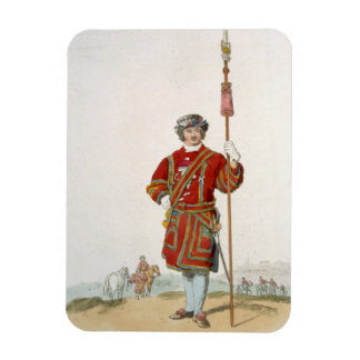 Terrateniente de Guard del rey, del 'traje de gran Rectangle Magnet