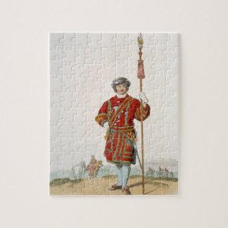 Terrateniente de Guard del rey, del 'traje de gran Puzzles
