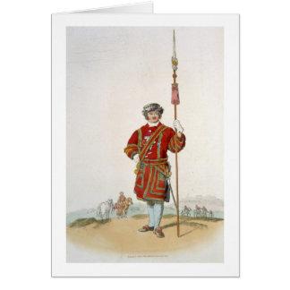 Terrateniente de Guard del rey, del 'traje de gran Tarjeta De Felicitación