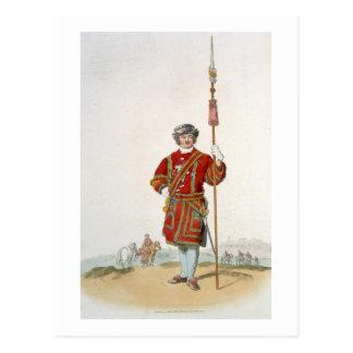 Terrateniente de Guard del rey, del 'traje de Postales