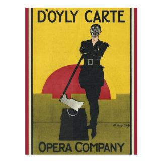 Terrateniente de la postal del poster de la ópera