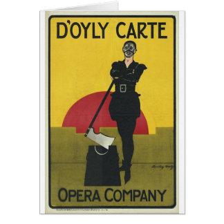 Terrateniente del poster de la ópera del vintage tarjeta de felicitación