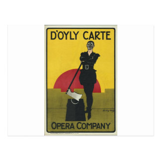 Terrateniente del poster de la ópera del vintage tarjetas postales