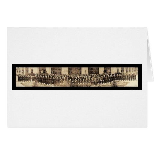 Terratenientes de la marina de guerra y foto 1919 tarjeta de felicitación
