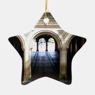 Terraza 1 de Bethesda Adorno Navideño De Cerámica En Forma De Estrella