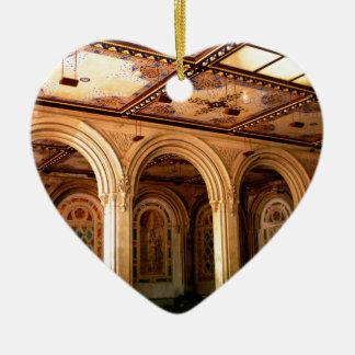 Terraza 2 de Bethesda Adorno Navideño De Cerámica En Forma De Corazón