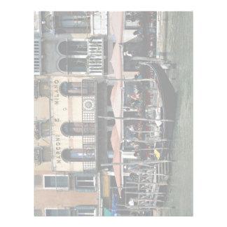 Terraza aislada del café, Venecia, Italia Membrete A Diseño