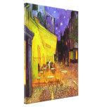 Terraza de Café en el ~ Vincent van Gogh de la noc Lienzo Envuelto Para Galerías