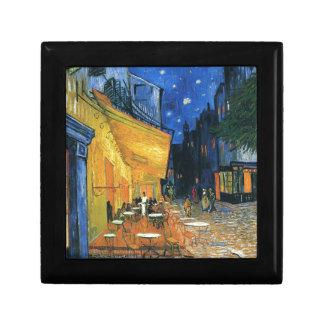 Terraza de Café en la noche Cajas De Joyas