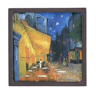 Terraza de Café en la noche Caja De Regalo De Calidad