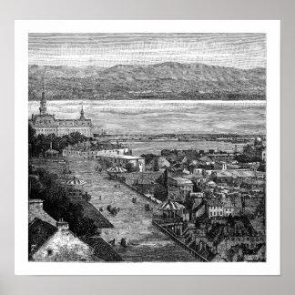 Terraza de Dufferin, Quebec, Canadá, 1875 Posters