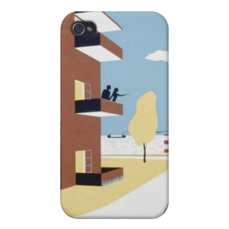 Terraza de Lakeview iPhone 4 Carcasa